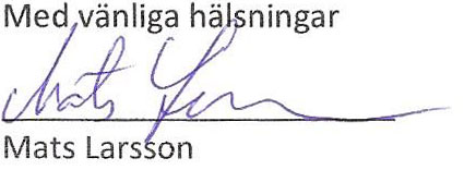 mats larsson sign